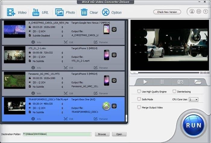 WinX HD Video Converter Deluxe 5.16.0.331 Crack Latest 2021